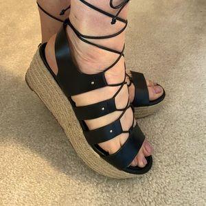Michael Kors Lace up Platform Sandal 9
